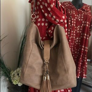 Seed Heritage Nude Large Tote with Tassels